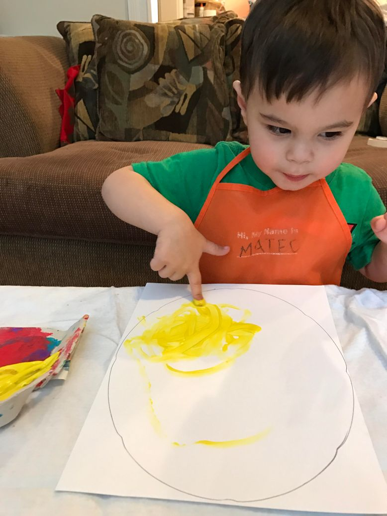 mateo painting egg