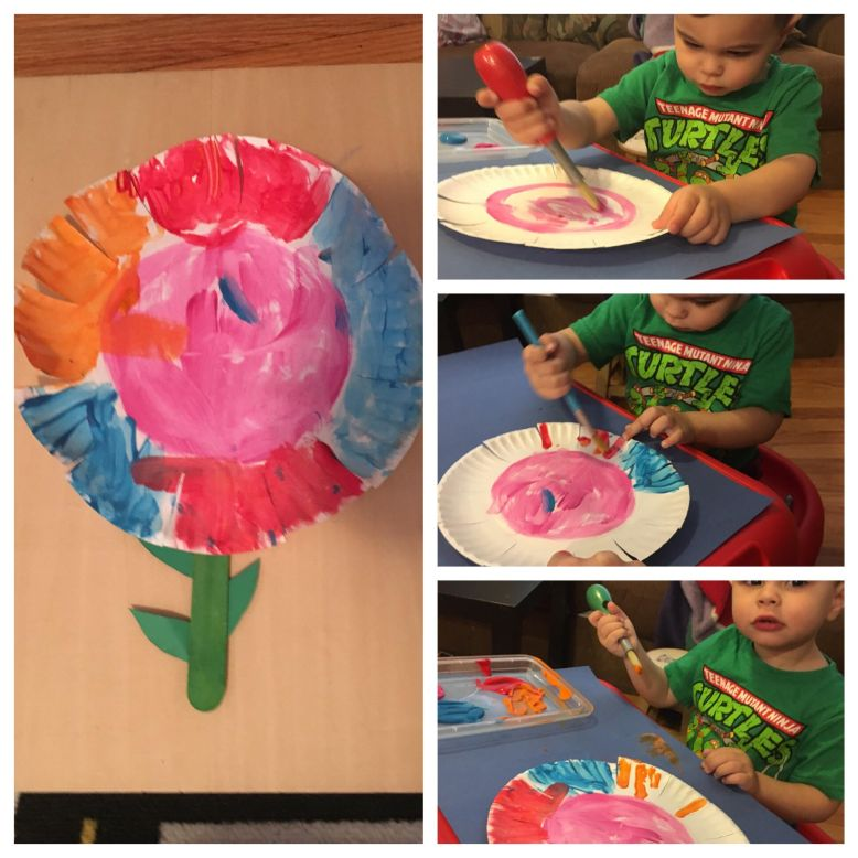 paper plate flower collage