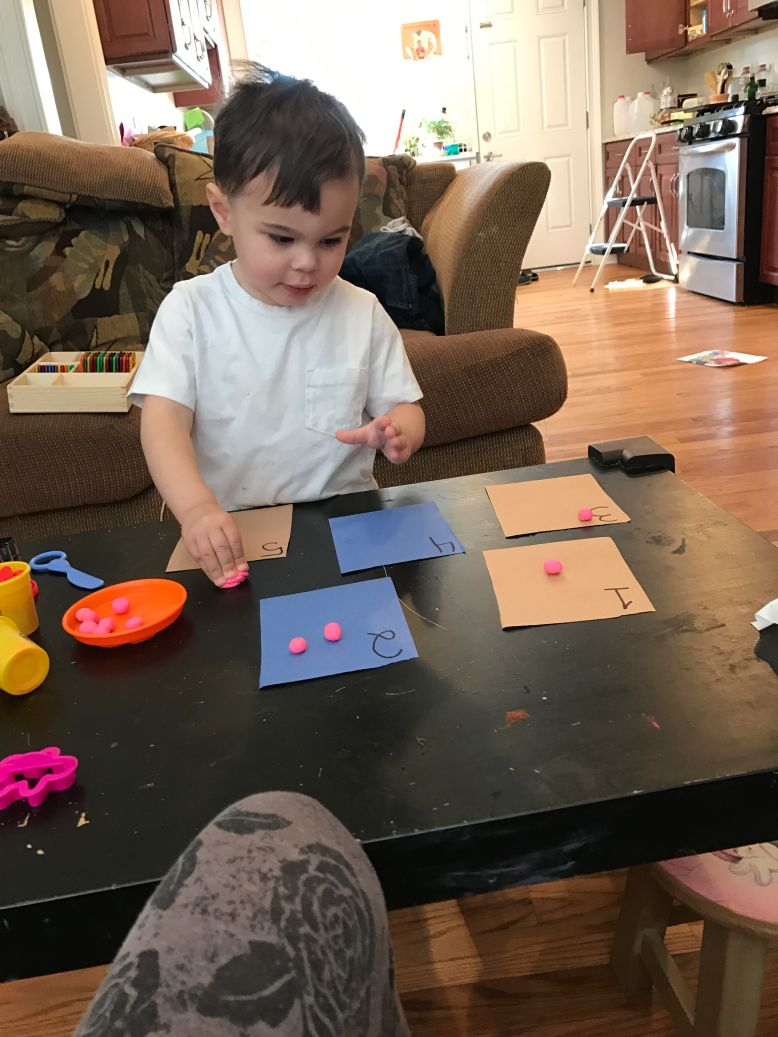 play dough counting activity