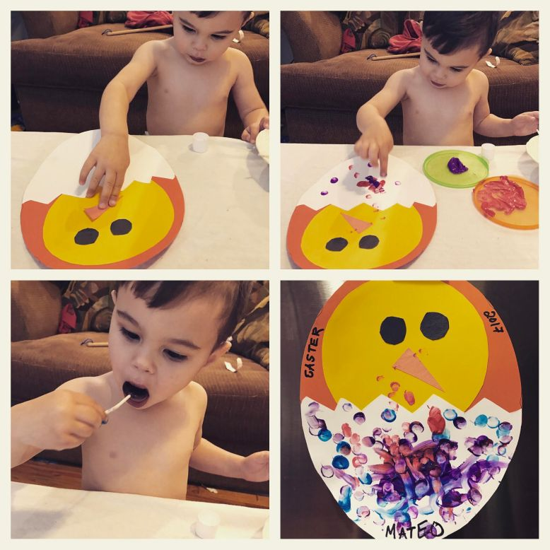 mateo hatching egg collage