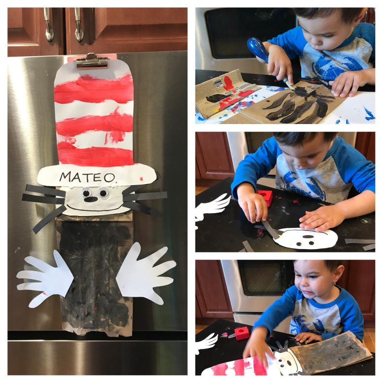 mateo_cat in the hat collage